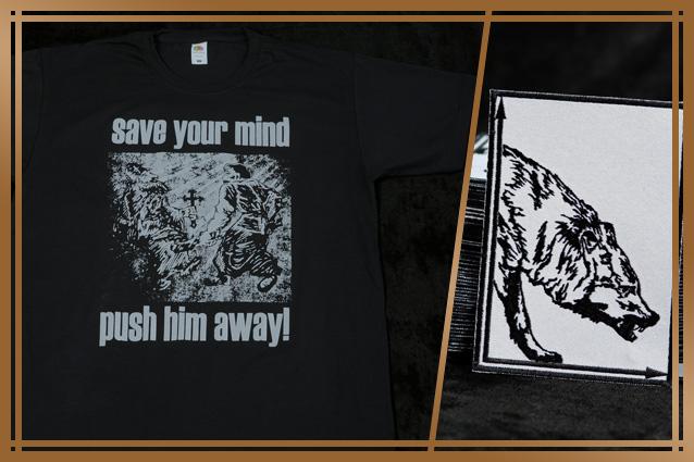 'SAVE YOUR MIND' TS | LUCIFUGUM 'Instinct Prevelance' patch